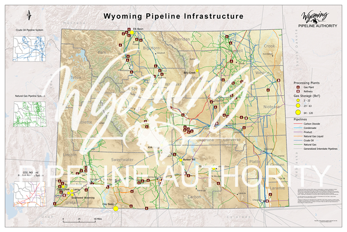 Wall Map | Wyoming Pipeline Authority